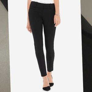 Stretch black ankle pant